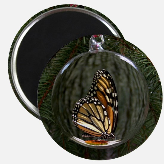 Monarch Butterfly Christmas Magnet