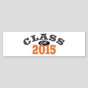 Class Of 2015 Orange Sticker (Bumper)