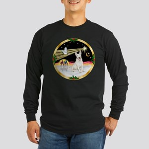 XmasDove/Bull Terrier Long Sleeve Dark T-Shirt