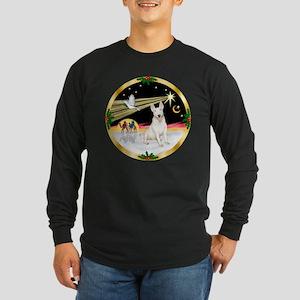 XmasDove/Bull Terrier Long Sleeve Dark T-Shirt