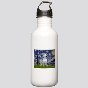 Starry Night/Bull Terrier Stainless Water Bottle 1