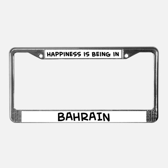 Happiness is Bahrain License Plate Frame