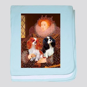 Queen / Two Cavaliers baby blanket