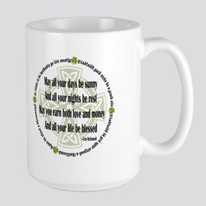 Irish Blessing Large Mug