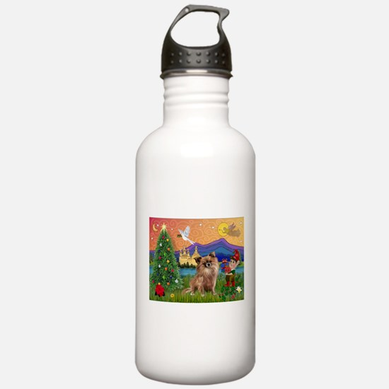 Xmas Fantasy/Chihuahua Water Bottle