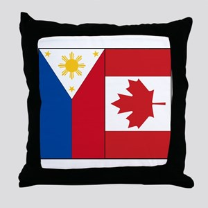 PI Flag & Canada Flag Throw Pillow
