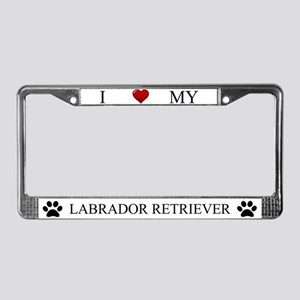 White I Love My Labrador Retriever Frame