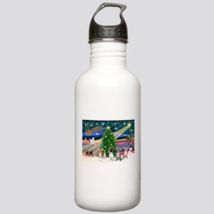 XmasMagic/Chihuahuas Stainless Water Bottle 1.0L