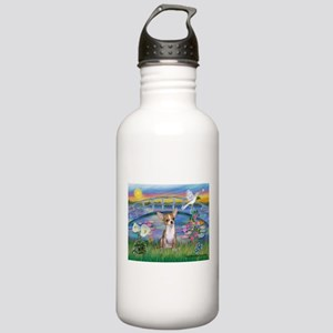 Lilies/Chihuahua Stainless Water Bottle 1.0L