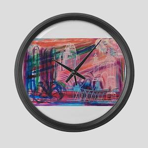 Downtown Cincinnati Large Wall Clock