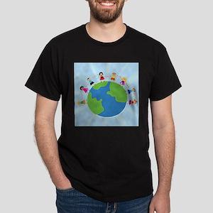 Kids Around the World Dark T-Shirt