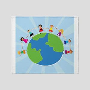 Kids Around the World Throw Blanket