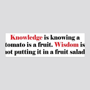 Tomato Knowledge 36x11 Wall Decal