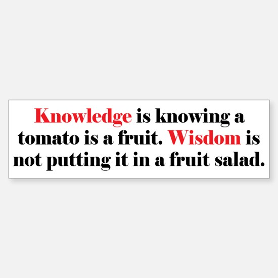 Tomato Knowledge Sticker (Bumper)