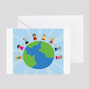 Kids Around The World Card Greeting Cards