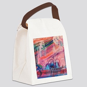 Downtown Cincinnati Canvas Lunch Bag