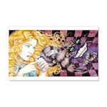 Alice & Cheshire (light) 22x14 Wall Peel