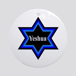 Yeshua Star of David Round Ornament