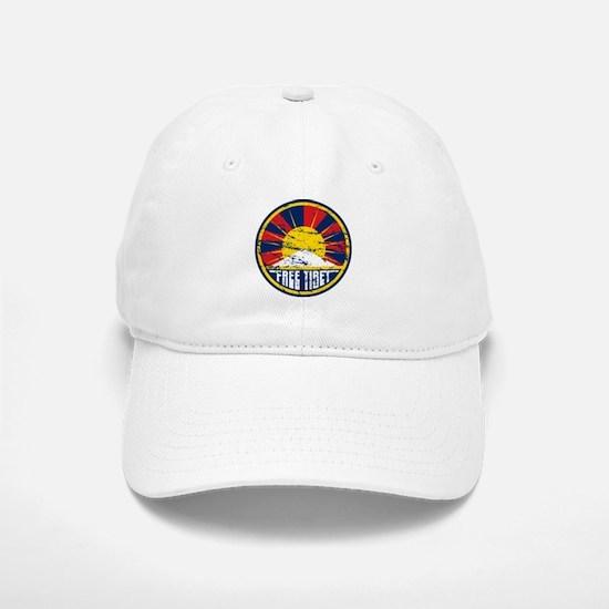 Free Tibet Grunge Baseball Baseball Cap