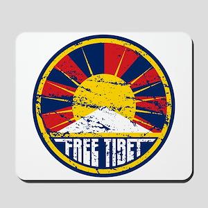 Free Tibet Grunge Mousepad
