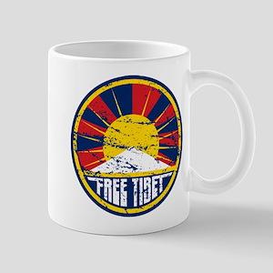 Free Tibet Grunge Mug