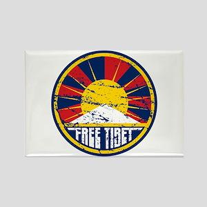 Free Tibet Grunge Rectangle Magnet