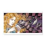 Alice & Cheshire (dark) 22x14 Wall Peel