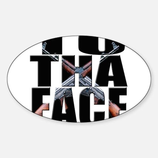 To Da Face Call of Duty AK Sticker (Oval)