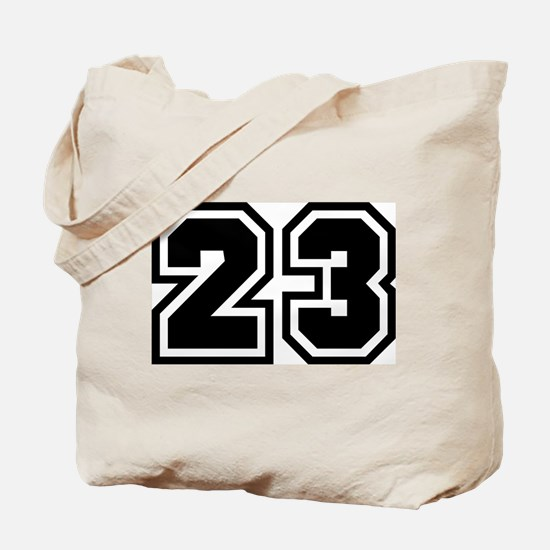 Varsity Uniform Number 23 Tote Bag