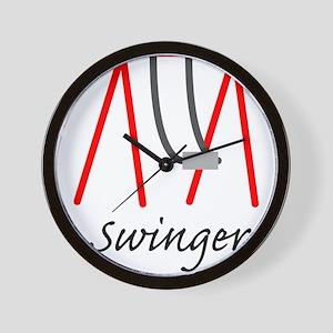 Swinging Swinger Wall Clock