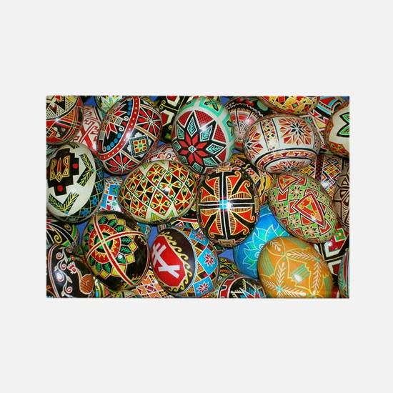 Pysanky Group 2 Rectangle Magnet