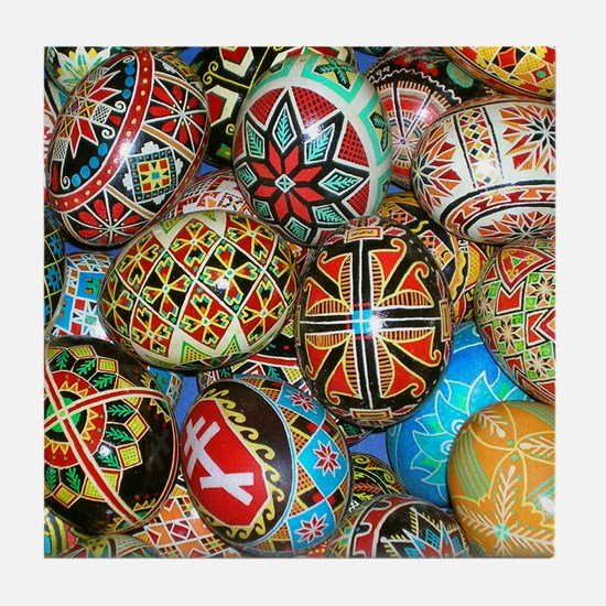 Pysanky Group 2 Tile Coaster