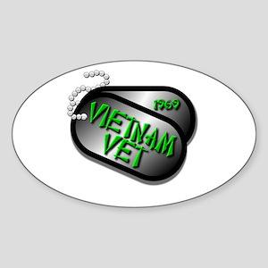 1969 Vietnam Vet Sticker (Oval)