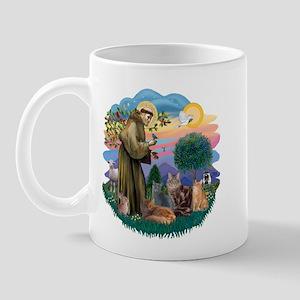 St Francis / 4 Cats Mug