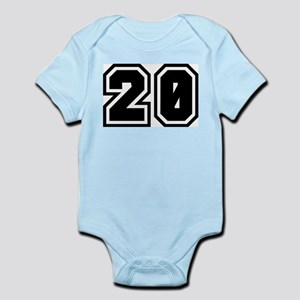 Varsity Uniform Number 20 Infant Creeper