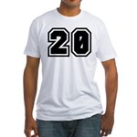Varsity Uniform Number 20 Fitted T-Shirt
