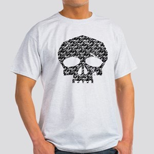 Chasm Pattern Skull Light T-Shirt