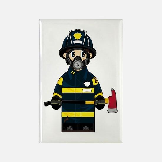 Firefighter in Respirator Magnet