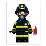 Firefighter in Respirator Small Poster
