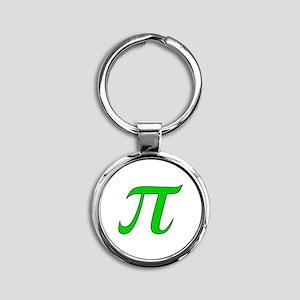 Green Pi Symbol Keychains