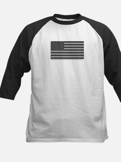 USA American Flag Gray Camo Kids Baseball Jersey