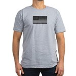 USA American Flag Gray Camo Men's Fitted T-Shirt (
