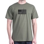 USA American Flag Gray Camo Dark T-Shirt