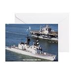 USS CALLAGHAN Greeting Card