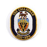 "USS CALLAGHAN 3.5"" Button"