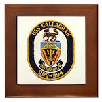USS CALLAGHAN Framed Tile
