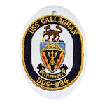 USS CALLAGHAN Ornament (Oval)