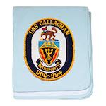 USS CALLAGHAN baby blanket