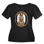 USS CALLAGHAN Women's Plus Size Scoop Neck Dark T-