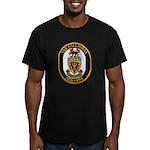 USS CALLAGHAN Men's Fitted T-Shirt (dark)